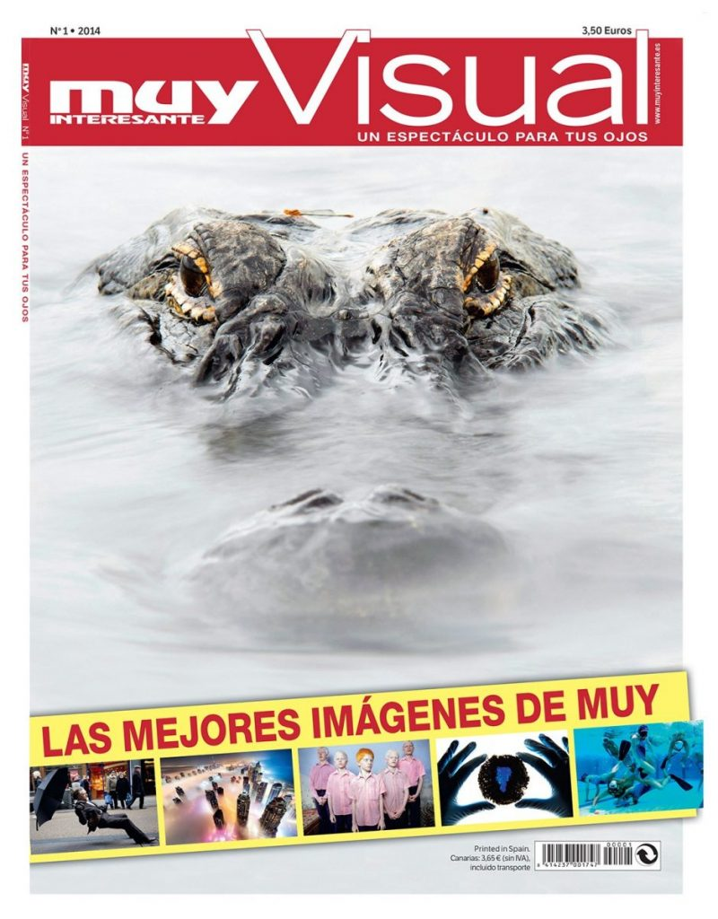 cover of the first edition of the muy intersante muy visual magazine