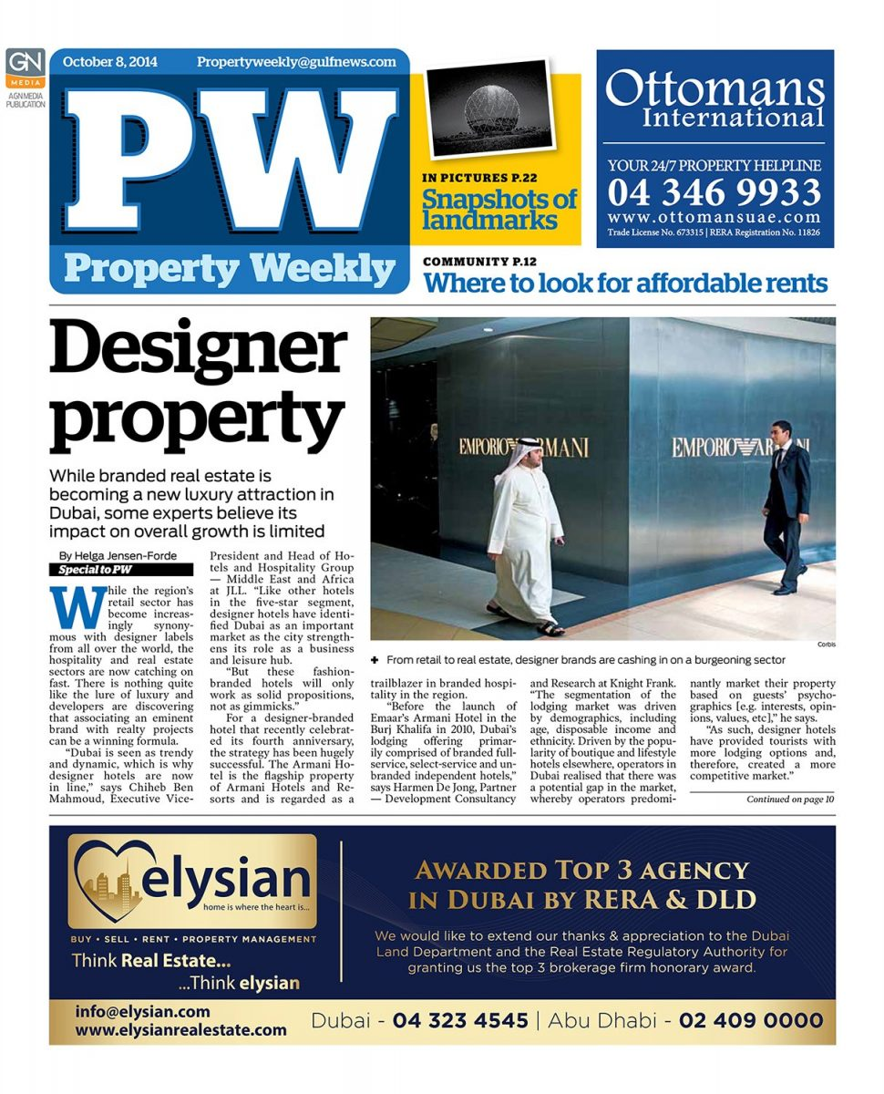 feature on the cover page of property weekly