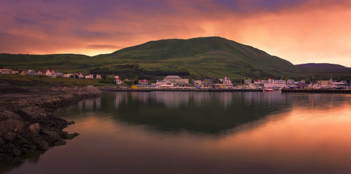 town of husavik in Iceland